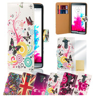 32nd colourful synthetic leather design book wallet LG G3 Mini Case.