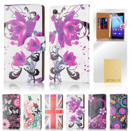 32nd colourful synthetic leather design book wallet Sony Xperia Z3 Compact Case.
