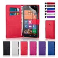 32nd faux leather book wallet Nokia Lumia 1320 Case in a range of attractive colours.