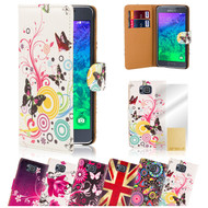 32nd stylish leather design book wallet Samsung Galaxy Alpha Case.
