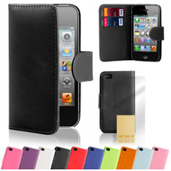 32nd synthetic leather book wallet Apple iPhone 4 Case in a range of attractive colours.