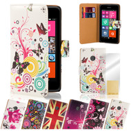 32nd attractive faux leather design book wallet Nokia Lumia 930 Case.