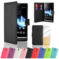 32nd synthetic leather book wallet Sony Xperia S Case in a range of stylish colours.