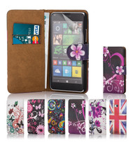 32nd colourful leather design book wallet Microsoft Lumia 640 Case.