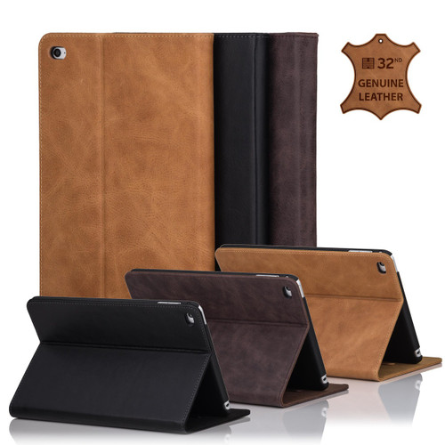 32nd premium Italian leather book wallet Apple iPad Mini 4 Case.