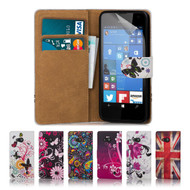 32nd colourful synthetic leather design book wallet Microsoft Lumia 550 Case.