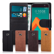 32nd premium Italian leather book wallet HTC 10 Case.