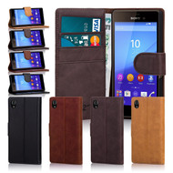 32nd premium Italian leather book wallet Sony Xperia M4 Aqua Case.