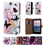 "32nd colourful synthetic leather design book wallet Alcatel Pixi 4 4.0"" Case."