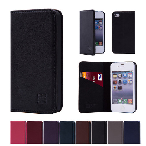 32nd real leather classic wallet Apple iPhone 4 Case in a range of stylish colours.