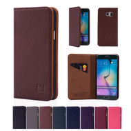 32nd real leather classic wallet Samsung Galaxy S6 Edge Case in a range of great colours.
