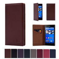 32nd real leather classic wallet Sony Xperia M4 Aqua Case in a range of colours.