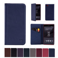 32nd real leather classic wallet Sony Xperia Z5 Compact Case in a range of colours.