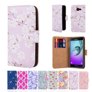 32nd synthetic leather floral design book wallet Samsung Galaxy A3 (2016) Case.
