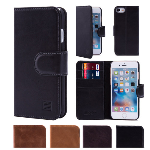 32nd premium Italian leather book wallet Apple iPhone 7 4.7 inch Case.