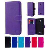 "32nd faux leather book wallet Alcatel Pop 4 Plus 5.5"" Case in a range of colours."
