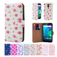 32nd synthetic leather floral design book wallet Motorola Moto G4 Case.