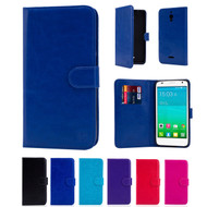 "32nd synthetic leather book wallet Alcatel Pixi 4 6.0"" (4G) Case in a range of colours."
