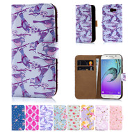 32nd synthetic leather floral design book wallet Samsung Galaxy A3 (2017) Case.