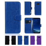 32nd synthetic leather book wallet Samsung Galaxy S8 case in a range of stylish colours.