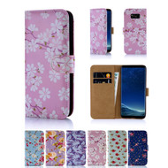 32nd synthetic leather floral design book wallet Samsung Galaxy S8 Case.