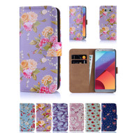 32nd faux leather floral design book wallet LG G6 Case.