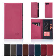 32nd real leather classic wallet Sony Xperia X Case in a range of colours.