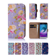 32nd synthetic leather floral design book wallet Samsung Galaxy J3 (2016) Case.