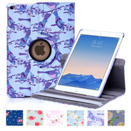 32nd synthetic leather floral design book wallet Apple iPad Air 2 Case.