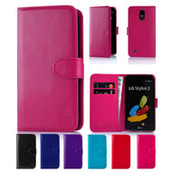 32nd faux leather book wallet LG Stylus 3 Case in a range of colours.