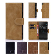 32nd premium Italian leather book wallet Sony Xperia XA1 Case.