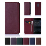 32nd real leather classic wallet Nokia 5 Case in a range of fantastic colours.