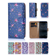 32nd faux leather floral design book wallet Nokia 5 Case.