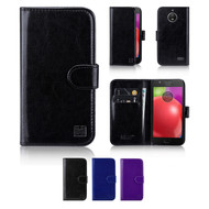 32nd synthetic leather book wallet Motorola Moto E4 Case in a range of great colours.