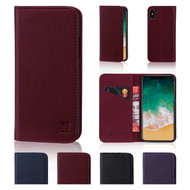 32nd real leather classic wallet Apple iPhone X Case in a range of colours.