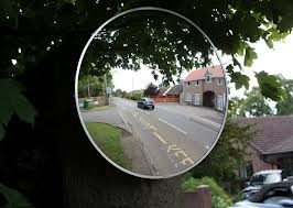 Driveway mirror 48in acrylic round convex for 3200 diamond eight terrace