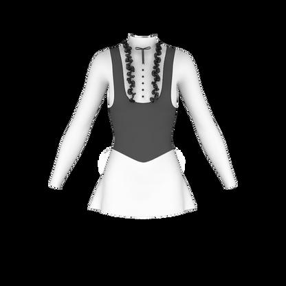Figure skating dresses black n white