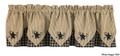 STURBRIDGE EMBROIDERED STAR POINT VALANCE