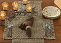Tweed-Espresso Placemat Setting