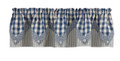 York Blue Lined Point Valance