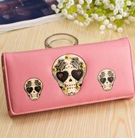 Light Pink Sugar Skull Wallet
