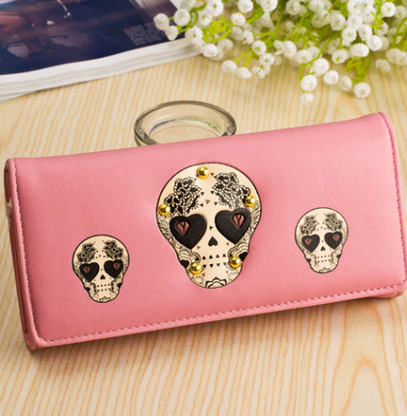 Light Pink Sugar Skull Wallet