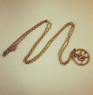 Bronze Mockingjay Inspired Pendant