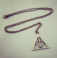 The Deathly Hallows Harry Potter Inspired Pendant - Bronze - Cobalt Heights