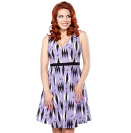Sourpuss Retro Diamonds Dress - Lilac - Cobalt Heights