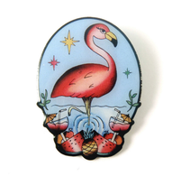 Jubly Umph The Flamboyant Flamingo Brooch - Cobalt Heights