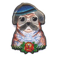 Jubly Umph Nelson The Sailor Pug Brooch - Cobalt Heights