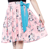 Sourpuss Elephant Swing Skirt - Cobalt Heights