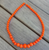 Gumball Bead Necklace 10 Colours Available - Coral - Cobalt Heights