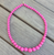 Gumball Bead Necklace 10 Colours Available - Hot Pink - Cobalt Heights